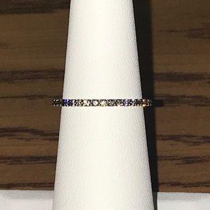 10k Champagne Diamond Ring